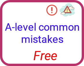 A-level chemistry mistakes