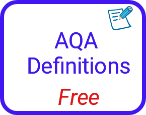 AQA chemistry definitions